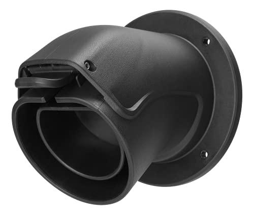 DELTACO Wandhalterung Typ 2 EV-Ladekabelstecker Weiblich, Halter/Dock für Ladekabel Einer Wallbox, Typ 2 Kabelhalterung Weiblich, Kabel Wandhalter, hochwertiger Kunststoff, Montagezubehör, schwarz