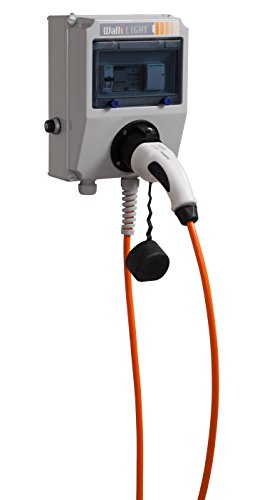 Elektroauto Wallbox/Ladestation WALLI Light 11 kW / 20A / Stecker Typ 2 / Ladekabel 7 Meter orange