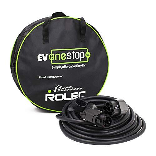 EV OneStop Simple, Affordable, Easy EV Ladekabel für Elektrofahrzeuge/Elektrofahrzeuge | Typ 1 bis Typ 2 | 32 Ampere (7,2 kW) | 5 Meter | Kostenlose Tragetasche |
