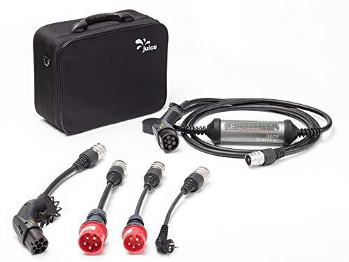 Juice Booster 2 Wallbox 22kW inkl. Typ 2 Ladekabel AC 1 Phasig - 32A 3-Phasig | CEE32, CEE16, Schuko und Typ 2 Adapter