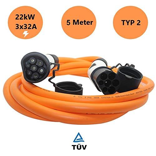 Boostech Typ 2 Ladekabel für EV/Elektroauto | 32A | 22kW | 3 Phasig | 5 Meter