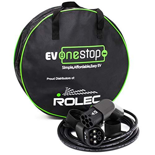 EV/Elektrofahrzeug - Ladekabel   Typ 2 - Typ 2   3 Phase   32 Ampere (22 kW)   10 Meter   Kostenlose Tragetasche  
