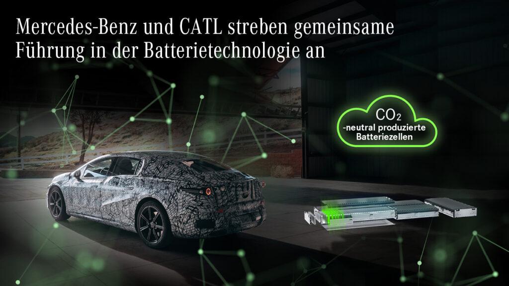 """""""Electric First"""": Mercedes-Benz und CATL  werden Zuliefererteam in der zukünftigen Batterietechnologie"""